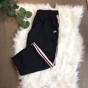 NIKE Women's Capris with Pink Stripes